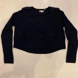 Minnie Rose cropper cashmere sweater size m